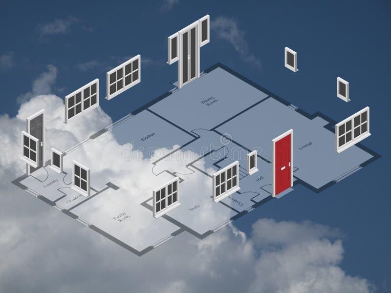 Hausplan stock abbildung