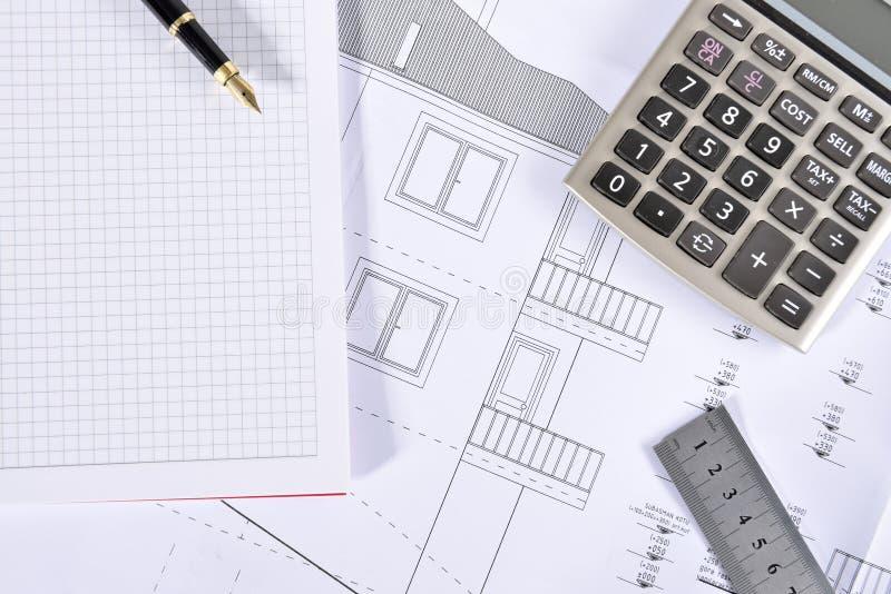 Hausplan stockbilder