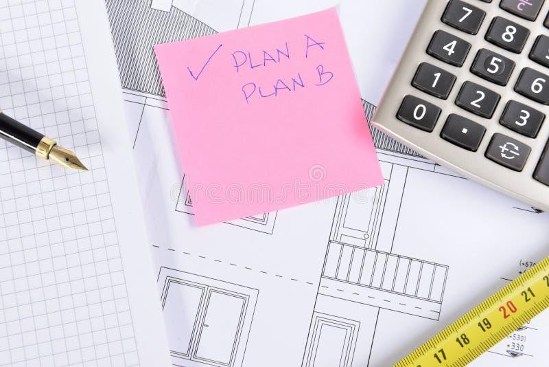 Hausplan stockfotos