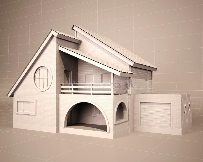 Hausplan 3d vektor abbildung