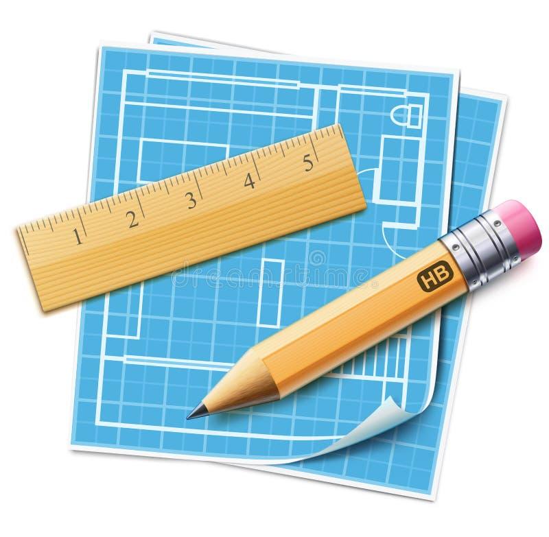 Hausplan-Planungskonzept vektor abbildung