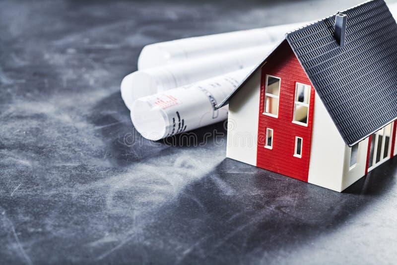 Hausplanung für Inhaber und Architekten stockfotos