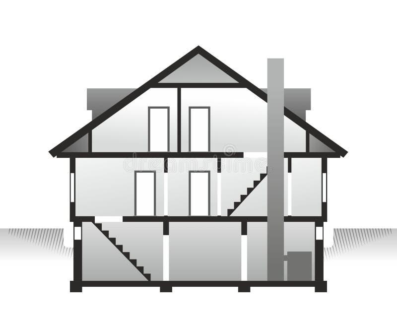 Hausprofil stock abbildung