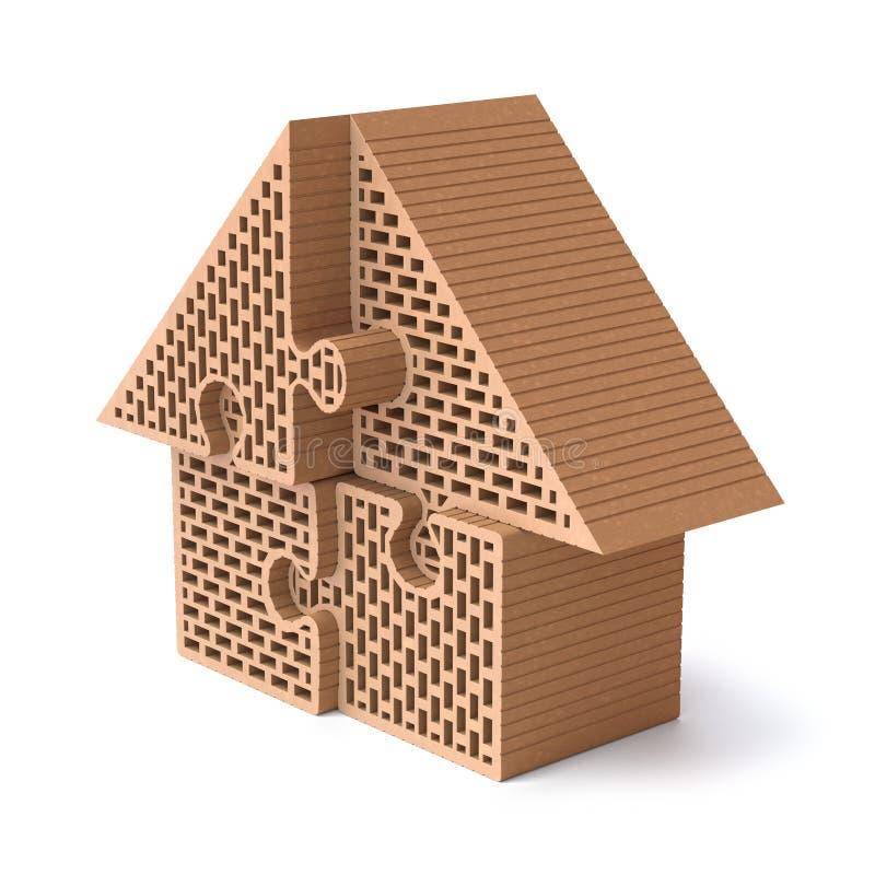 Hauspuzzlespiel vektor abbildung