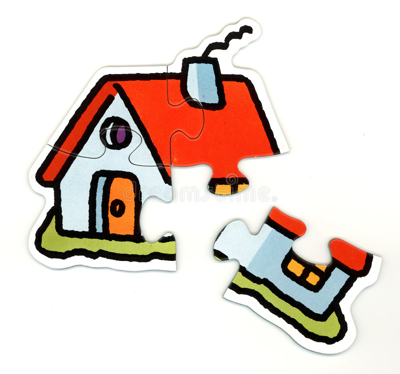 Hauspuzzlespiel lizenzfreie stockfotografie