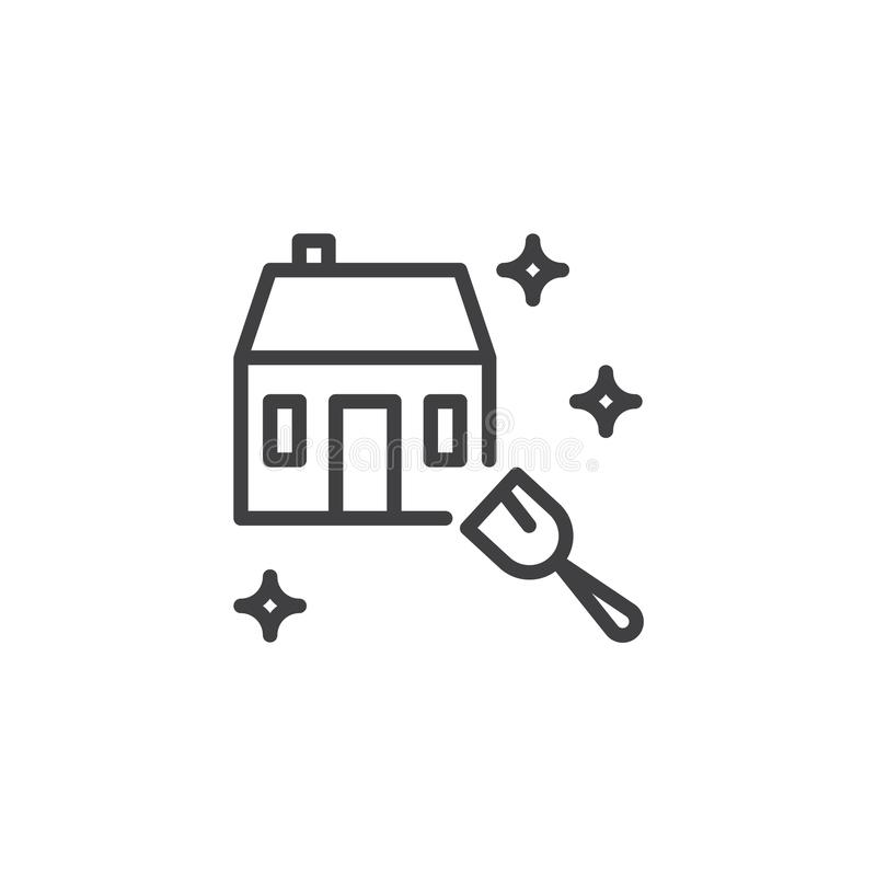 Hausreinigungsservice-Entwurfsikone vektor abbildung