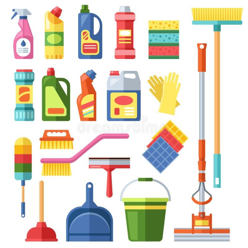 Hausreinigungswerkzeuge stock abbildung