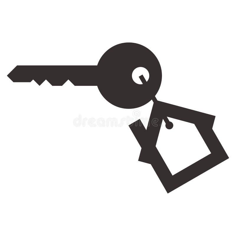 Hausschlüssel lokalisiert stock abbildung