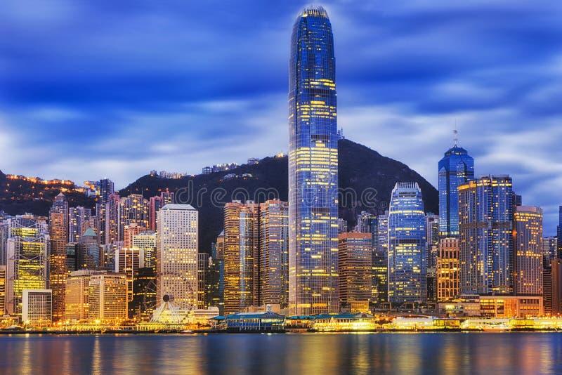 Hausse étroite centrale du HK CBD photos stock