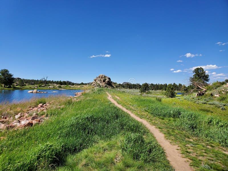 Hausse autour du lac sans élégance le Colorado image libre de droits