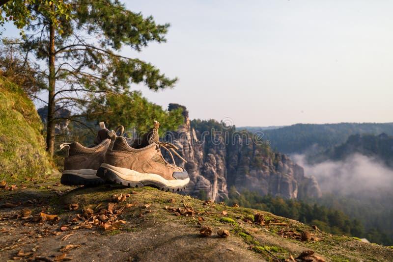 Hausse dans Saxon Suisse photographie stock libre de droits