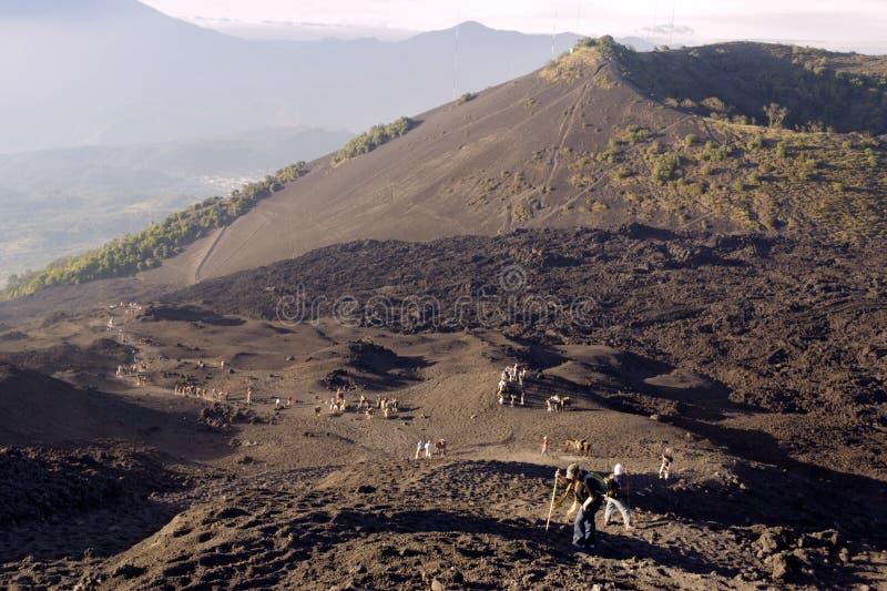 Hausse de l'Agua de Volcan photographie stock libre de droits