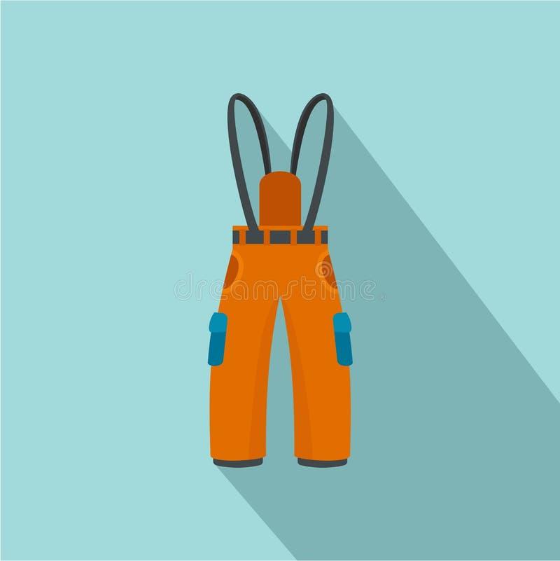 Hausse de l'icône de pantalon, style plat illustration libre de droits