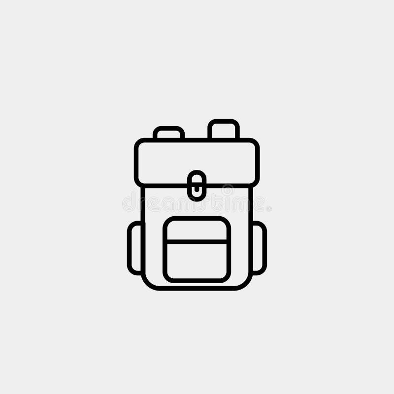 Hausse de l'icône de vecteur d'ensemble de sac à dos image stock