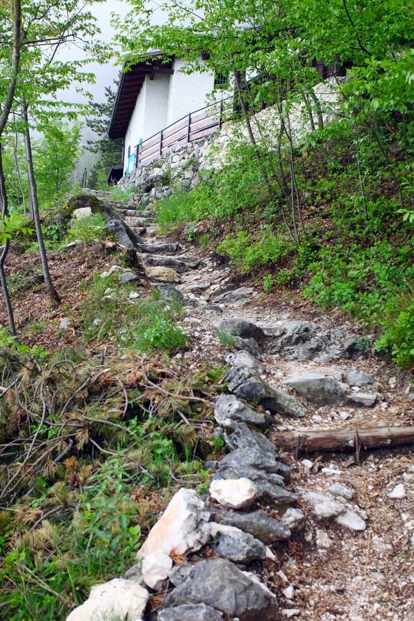 Hausse de la piste dans les montagnes photos libres de droits
