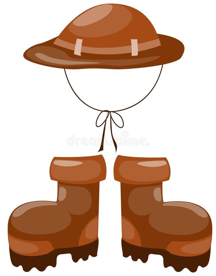 Hausse des gaines avec le chapeau illustration stock