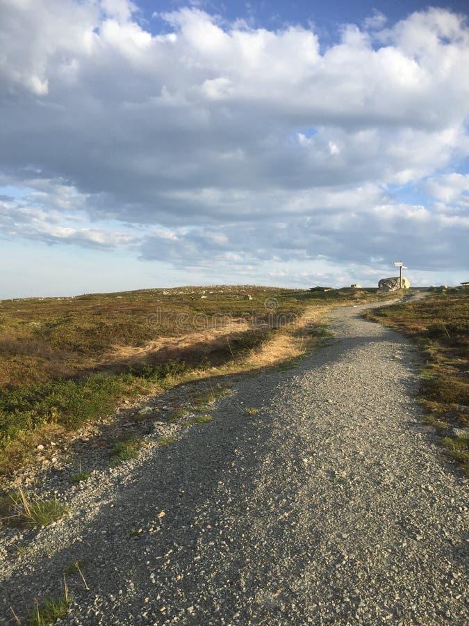 Hausse du chemin dans le Suédois Laponie photographie stock libre de droits
