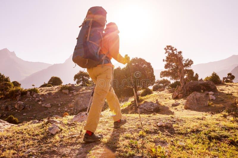 Hausse en montagnes de Fann images libres de droits