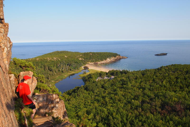 Hausse en parc national d'Acadia photo stock