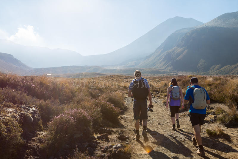 Hausse en parc national de Tongariro photos stock