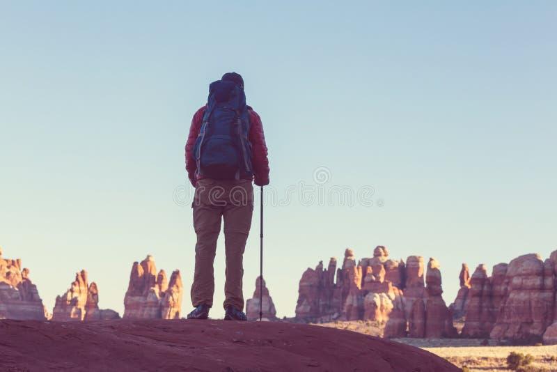 Hausse en Utah photos libres de droits