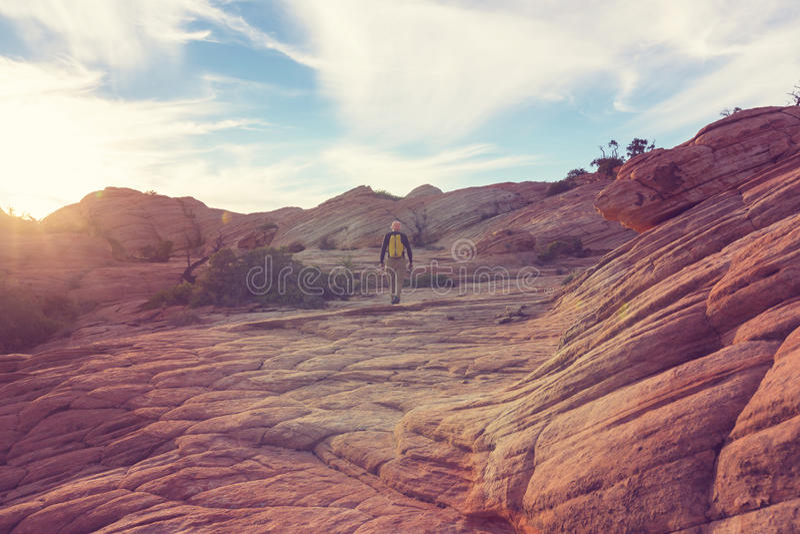 Hausse en Utah photos stock