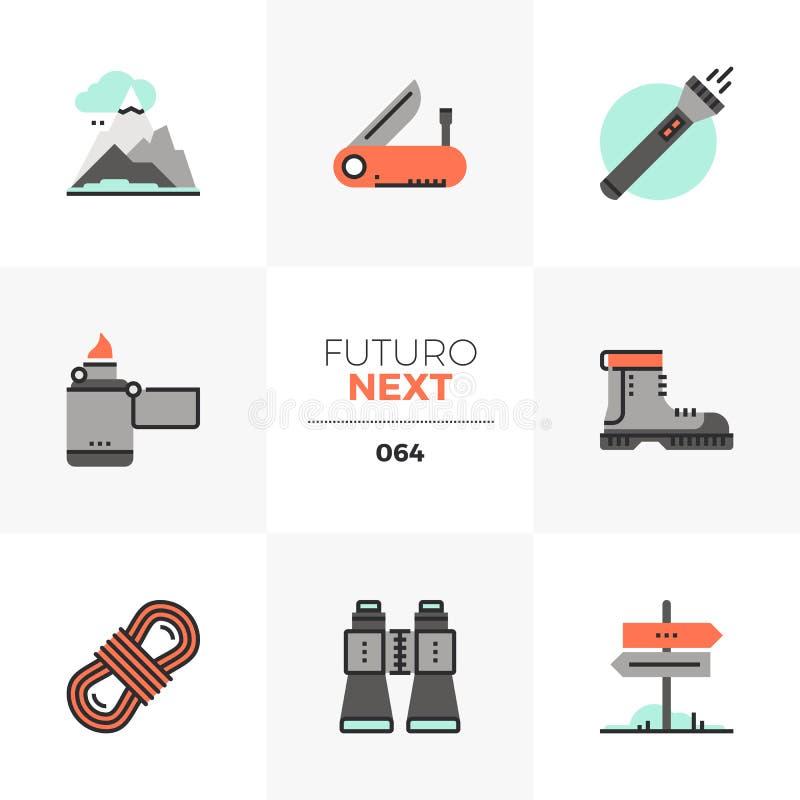 Hausse icônes de Futuro d'équipement de prochaines illustration libre de droits