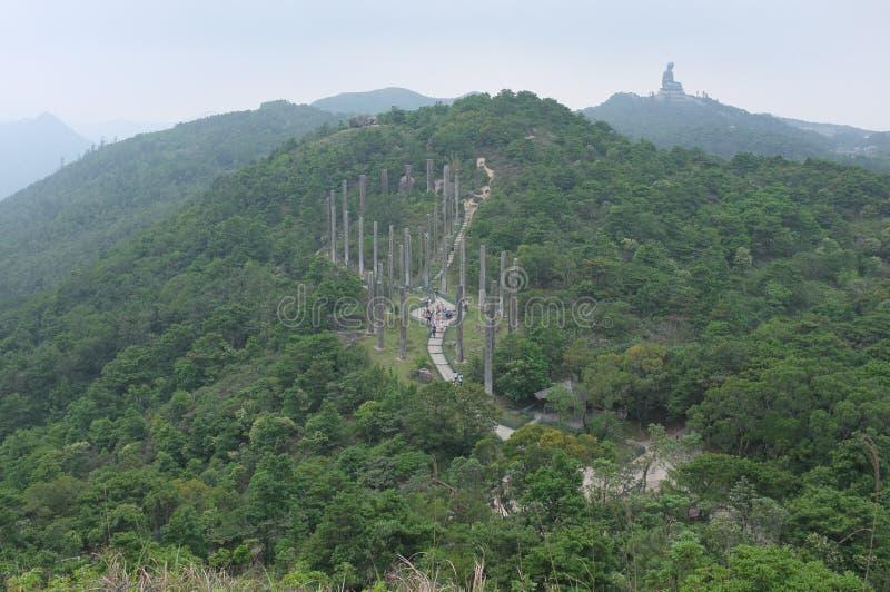 Hausse sur la montagne de Ngong Ping District photos stock