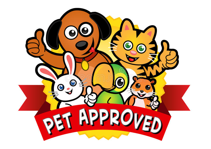 Haustier-anerkannte Dichtung stock abbildung