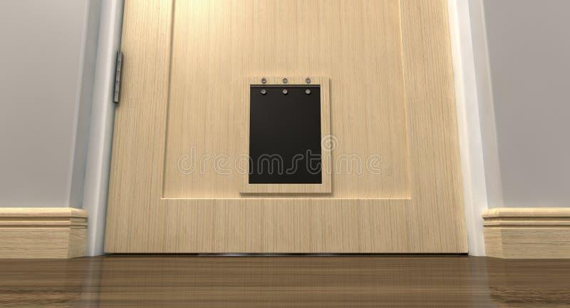 Haustier-Klappen-Innenraum stockbilder