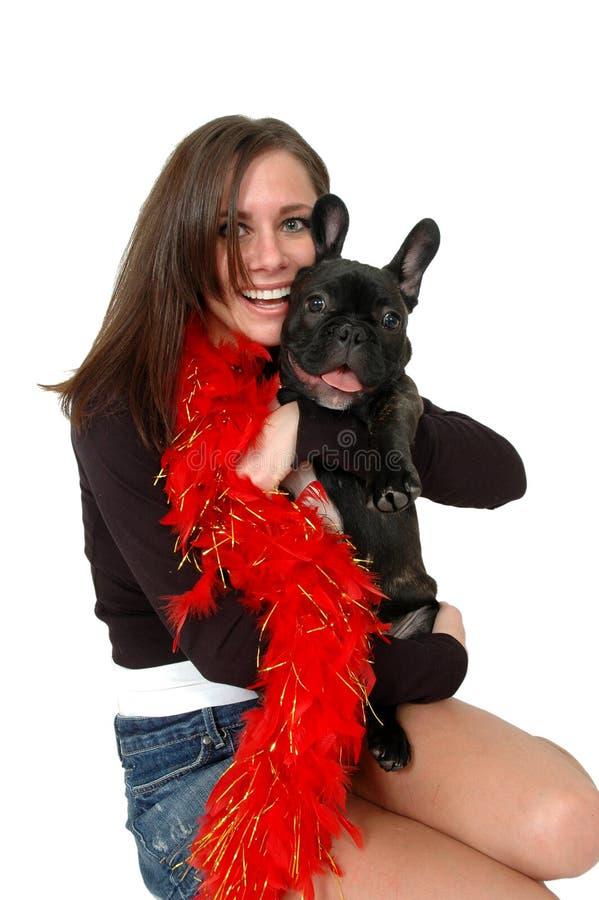 Haustier-Umarmungen lizenzfreie stockfotos