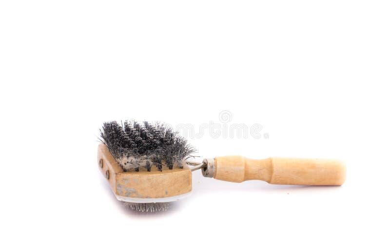 Haustierbürste mit Büschel lizenzfreies stockfoto