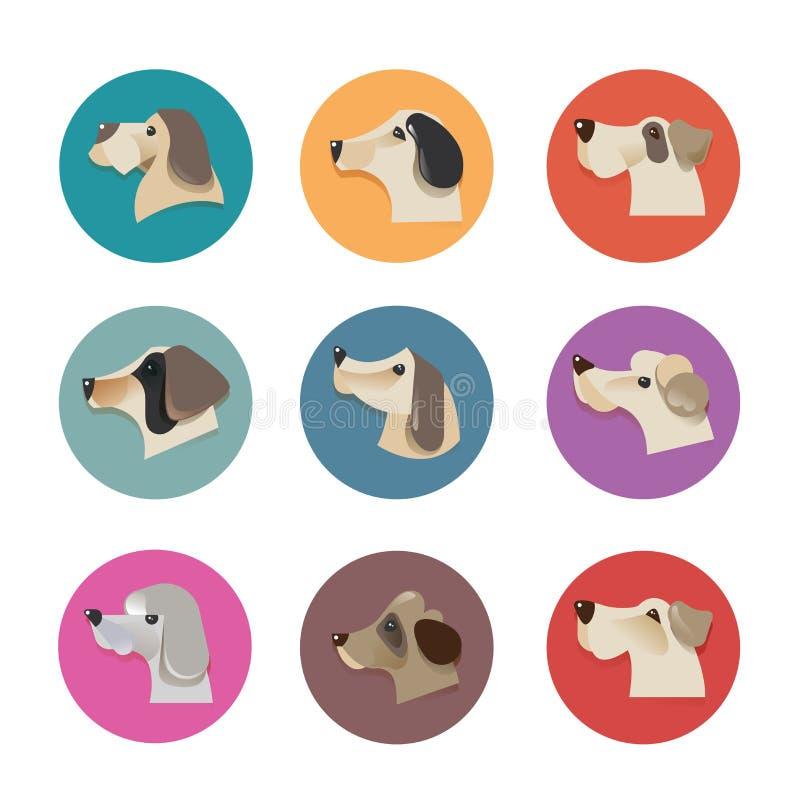 Haustiervektorikonen - Hundeelemente lizenzfreie abbildung