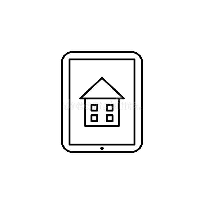 Hausunterricht, on-line-Ausbildungsikone Element der Hausunterrichtikone Dünne Linie Ikone für Websitedesign und Entwicklung, APP stock abbildung