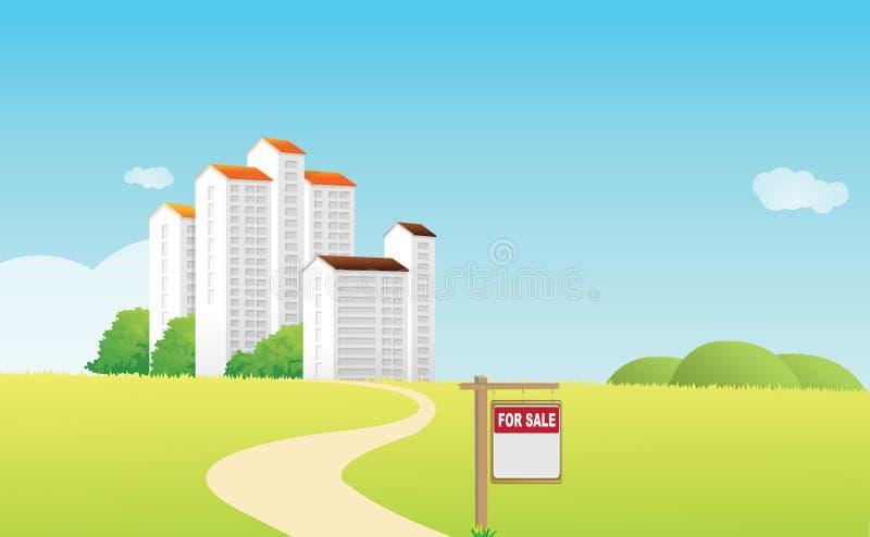 Hausverkauf stock abbildung