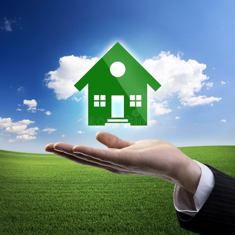 Hausversicherung und Sicherheit stockfoto