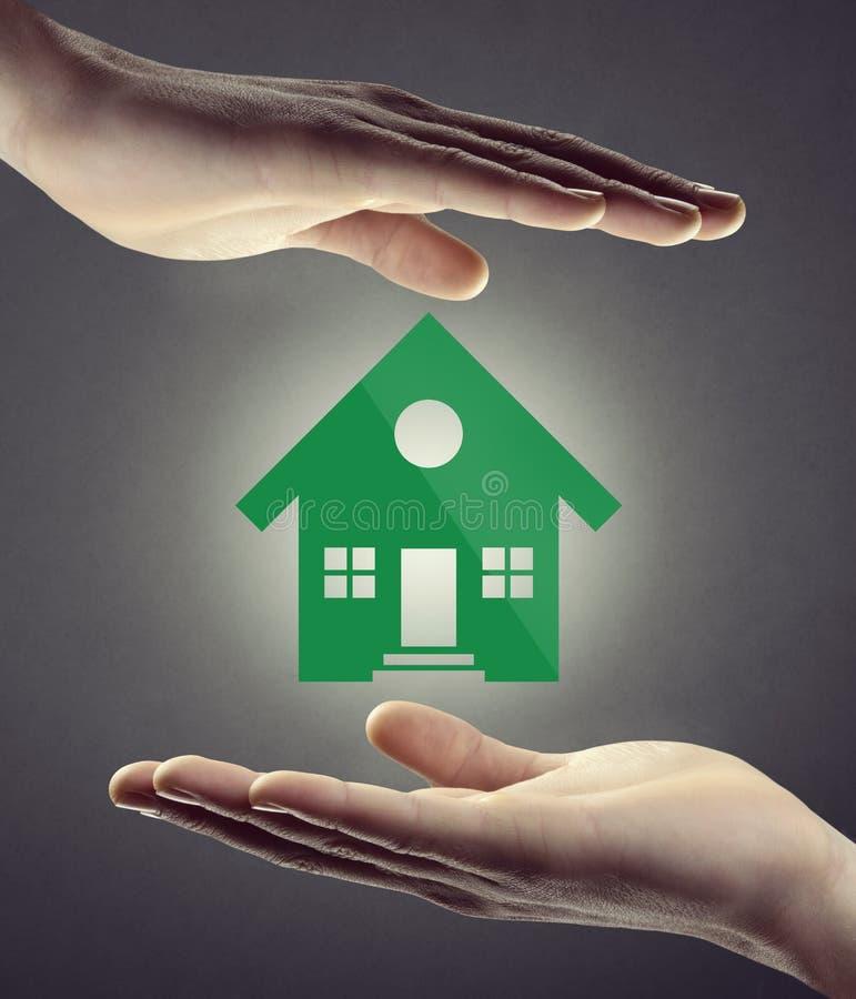 Hausversicherung und Sicherheit lizenzfreie stockbilder
