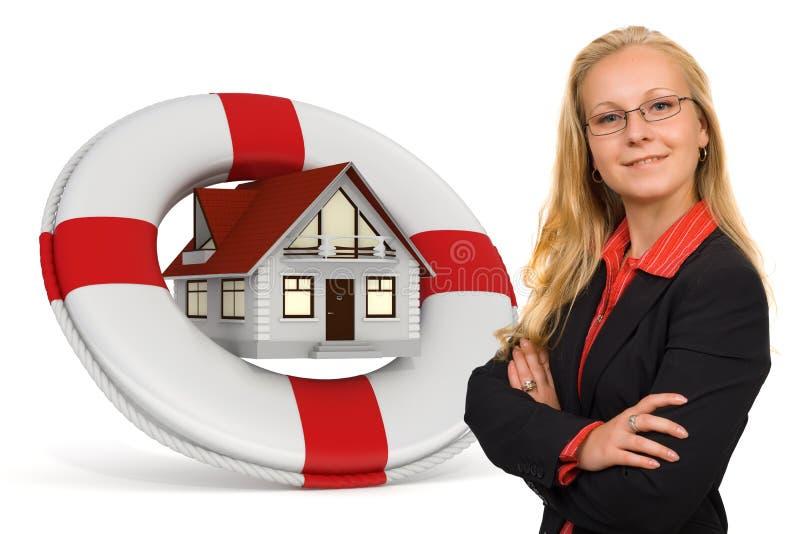 Hausversicherungsdienstleistungen vektor abbildung