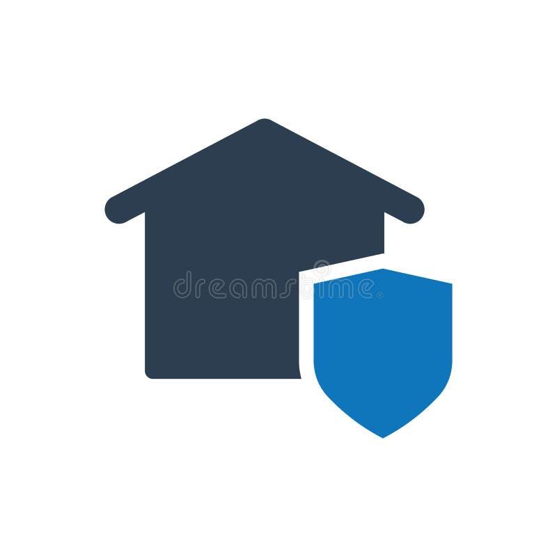 Hausversicherungsikone lizenzfreie abbildung