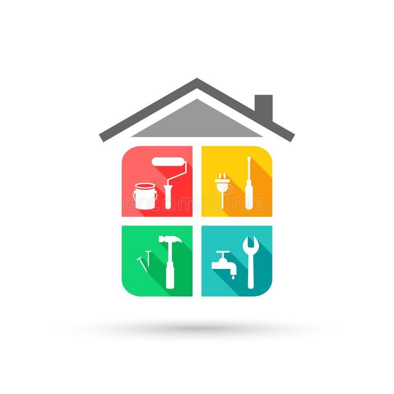 HausWartungskonzept lizenzfreie abbildung