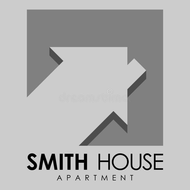 Hauswohnungslogo stockbild