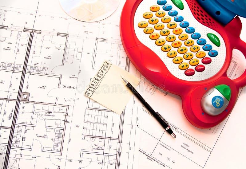 Hauszeichnung stockbilder