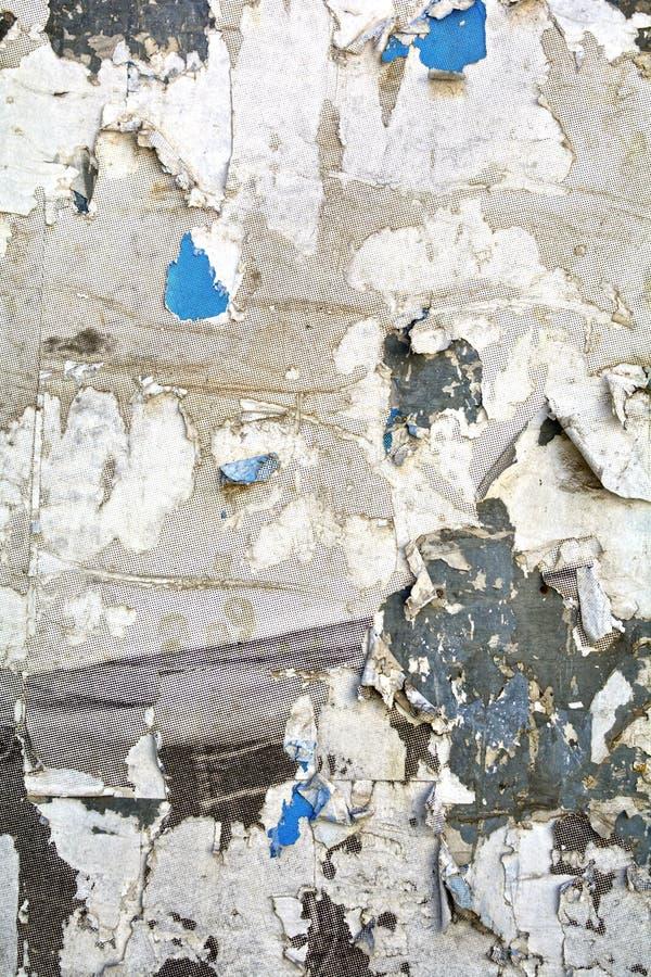 Haut étroit déchiré d'affiches photos libres de droits