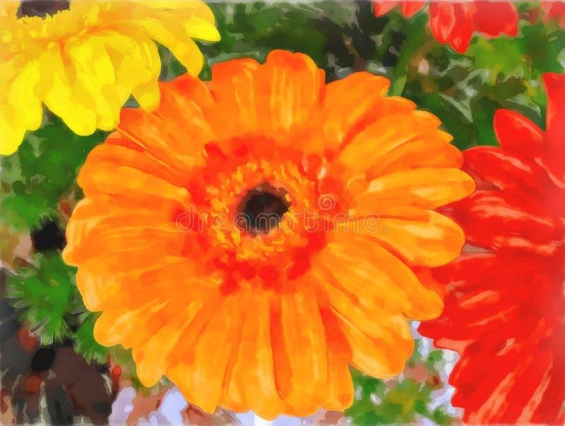 Haut étroit de fleurs lumineuses Peinture de Watercolorl illustration de vecteur