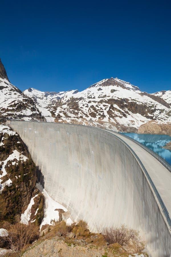 Haut barrage électrique d'Emosson images libres de droits