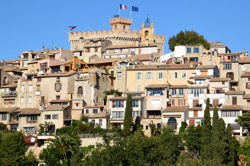 haut de Cagnes,法国海滨 免版税库存照片