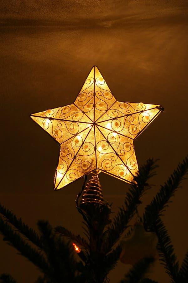 Haut de forme d'arbre de Noël d'étoile photographie stock libre de droits