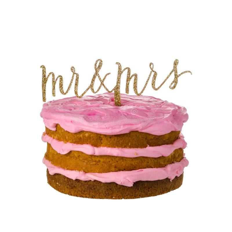 Haut de forme de gâteau de mariage image stock