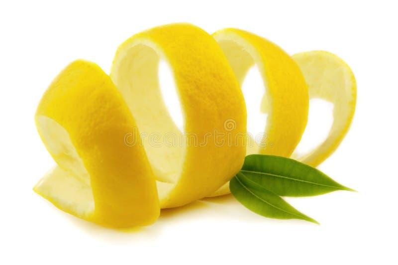 Haut der Zitrone stockfoto