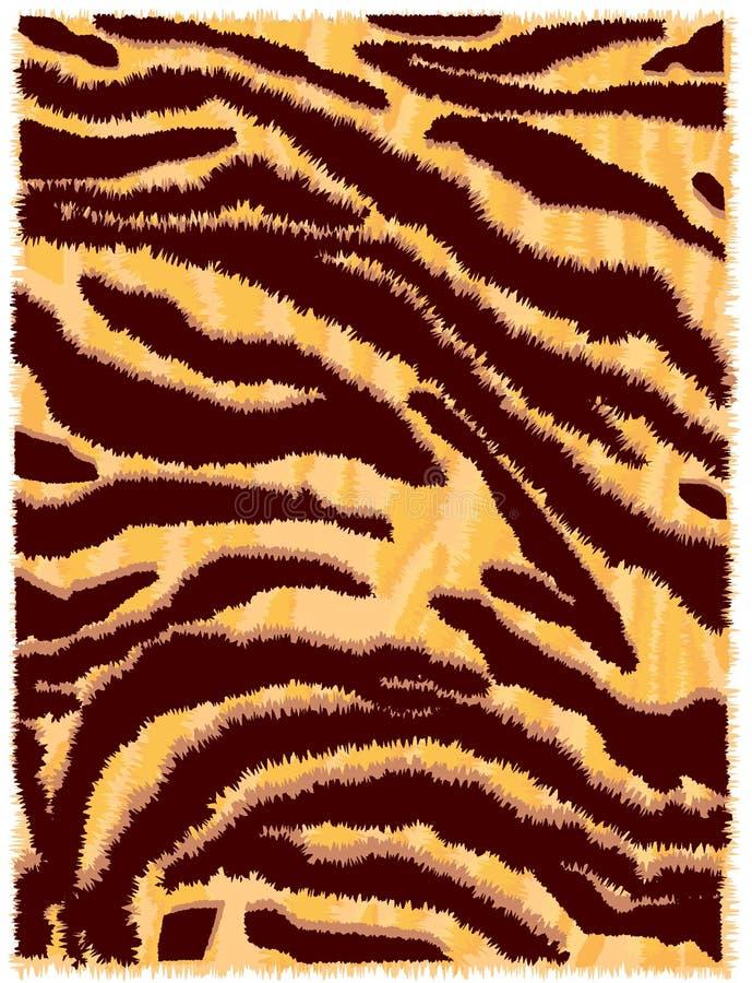 Haut des Tigers vektor abbildung
